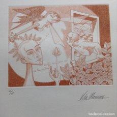 Arte: VILA MONCAU GRABADO FIRMADO Y NUMERADO. Lote 161672186