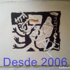 Arte: TUBAL GRABADO AGUAFUERTE BUMERADO Y FIRMADO A GRAFITO. Lote 161832458