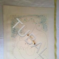 Arte: TUBAL GRABADO LITOGRAFIA PICASSO EN EDITIONS COMBAT POUR LA PAIX MATERNITÉ. Lote 161832826