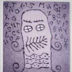 Arte: SOBREINFORMACIÓN - AGUATINTA AL AZÚCAR DE GAP (GUILLERMO ANTÓN PARDO) - 20X24 CM. Lote 161927554
