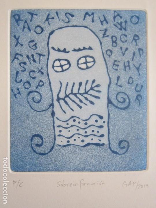 SOBREINFORMACIÓN - AGUATINTA AL AZÚCAR DE GAP (GUILLERMO ANTÓN PARDO) - 20X24 CM (Arte - Grabados - Contemporáneos siglo XX)