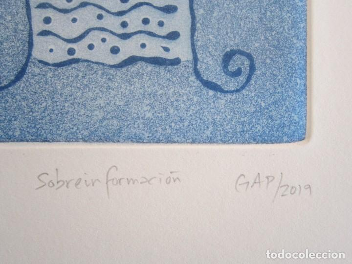 Arte: Sobreinformación - Aguatinta al azúcar de GAP (Guillermo Antón Pardo) - 20x24 cm - Foto 2 - 161928810