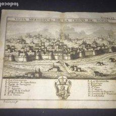 Arte: VISTA MERIDIONAL DE LA CIUDAD DE BORJA (ZARAGOZA). GRABADO POR PALOMINO. 1779. ORIGINAL.. Lote 162056306