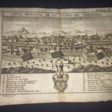 Arte: VISTA ORIENTAL DE LA CIUDAD DE TARAZONA (ZARAGOZA). GRABADO POR PALOMINO. 1779. ORIGINAL.. Lote 162057302