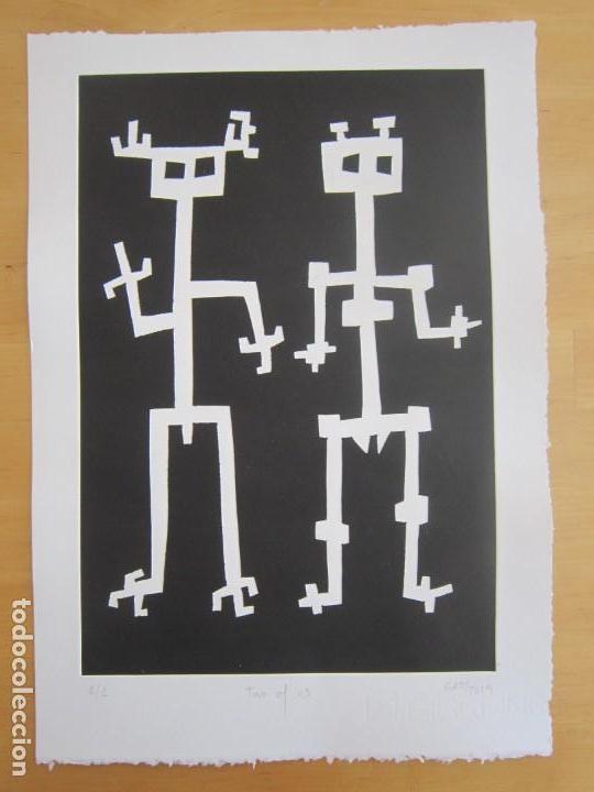 Arte: Two of Us - Monotipo sobre papel de GAP (Guillermo Antón Pardo) - 25 x 35,5 cm - Foto 6 - 162289586