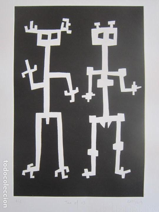 TWO OF US - MONOTIPO SOBRE PAPEL DE GAP (GUILLERMO ANTÓN PARDO) - 25 X 35,5 CM (Arte - Grabados - Contemporáneos siglo XX)