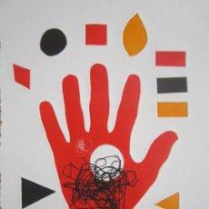 Arte: HAND - MONOTIPO SOBRE PAPEL DE GAP (GUILLERMO ANTÓN PARDO) - 25 X 35 CM. Lote 162291038