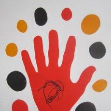 Arte: HAND - MONOTIPO SOBRE PAPEL DE GAP (GUILLERMO ANTÓN PARDO) - 25 X 35 CM. Lote 162291326