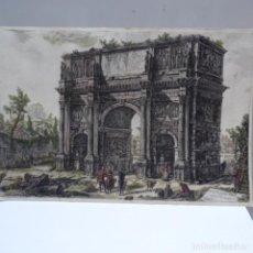 Arte: GRABADO DE GIOVANNI BATISTA PIRANESI.DEVUTA DELL ARCO DI CONSTANTINO.. Lote 162317878