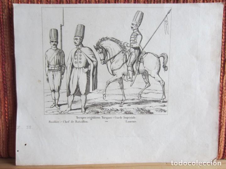 1835- TROPAS. SOLDADOS TURCOS. TURQUÍA. GRABADO ORIGINAL (Arte - Grabados - Modernos siglo XIX)