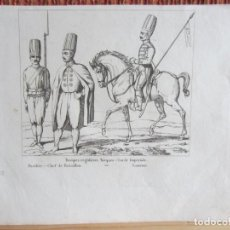 Arte: 1835- TROPAS. SOLDADOS TURCOS. TURQUÍA. GRABADO ORIGINAL. Lote 162340302