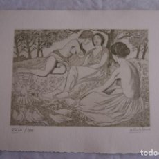 Arte: GRABADO AL AGUAFUERTE ALBERTO DUCE XXIII/185 35 X 50 CM MUJERES DESNUDOS. Lote 162341518