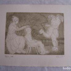 Arte: GRABADO AL AGUAFUERTE ALBERTO DUCE XXIII/185 35 X 50 CM MUJERES DESNUDOS. Lote 162341622