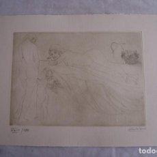 Arte: GRABADO AL AGUAFUERTE ALBERTO DUCE XXIII/185 35 X 50 CM MUJERES DESNUDOS. Lote 162341714