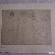 Arte: GRABADO AL AGUAFUERTE ALBERTO DUCE XXIII/185 35 X 50 CM MUJERES BAILANDO. Lote 162341974