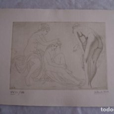 Arte: GRABADO AL AGUAFUERTE ALBERTO DUCE XXIII/185 35 X 50 CM MUJERES DESNUDAS. Lote 162342118