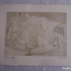 Arte: GRABADO AL AGUAFUERTE ALBERTO DUCE XXIII/185 35 X 50 CM MUJERES DESNUDAS. Lote 162342222