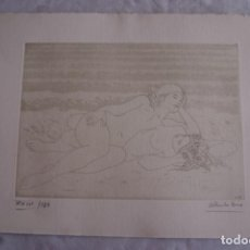 Arte: GRABADO AL AGUAFUERTE ALBERTO DUCE XXIII/185 35 X 50 CM MUJERES DESNUDAS. Lote 162342310