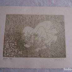 Arte: GRABADO AL AGUAFUERTE ALBERTO DUCE XXIII/185 35 X 50 CM MUJERES DESNUDAS. Lote 162342382