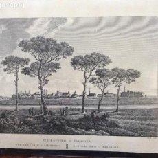 Arte: GRABADO DE ZARAGOZA DE 1795 40CMX30CM. Lote 162372658