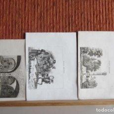 Arte: 1835- 3 GRABADOS ORIGINALES. RUSIA. MONUMENTO A PULTAWA.INCENDIO EN EL KREMLIN.CAMPESINOS RUSOS. Lote 162445338