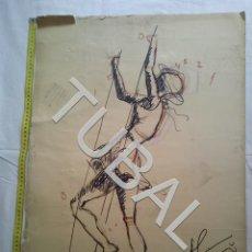 Arte: TUBAL DIBUJO ORIGINAL FIRMADO. Lote 162493418