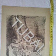 Arte: TUBAL LAMINA FIRMADA A LAPIZ PROBABLEMENTE ART CATALÁ. Lote 162494082