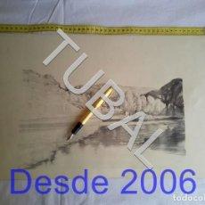 Arte: TUBAL LAMINA FIRMADA A LAPIZ PROBABLEMENTE ART CATALÁ FIRMA CASI BORRADA. Lote 162494474
