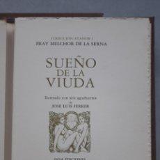 Arte: 6 AGUAFUERTES DE JOSE LUIS FERRER. SUEÑO DE LA VIUDA. FRAY MELCHOR DE LA SERNA. TIRADA DE 250 EJEM. Lote 162604206