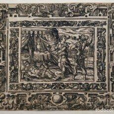 Arte: MARAVILLOSO GRABADO ORIGINAL DEL SIGLO XVI, CIRCA 1580-1590. Lote 162937450