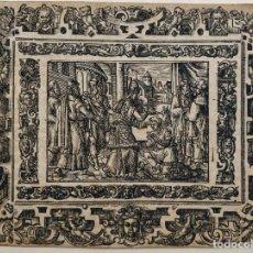 Arte: MARAVILLOSO GRABADO ORIGINAL DEL SIGLO XVI, CIRCA 1580-1590. Lote 162937758