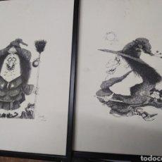 Arte: PAREJA GRABADOS ORIGINALES ZAMORA. Lote 162968661