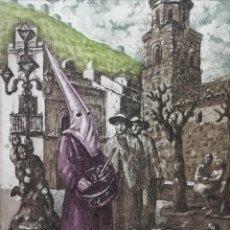 Arte: LA PLAZA.MIGUEL VIRIBAY. Lote 163212082