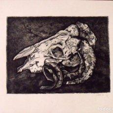 Arte: GARRIGA. CABEZA DE RES. FIRMADA A MANO. 50X36 CM. BUEN ESTADO.. Lote 163351550