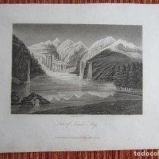 Arte: 1809-GRABADO ORIGINAL. LAKE OF KANDEL STEIG,LAGO. SUIZA. SCHWEIZ. Lote 163501342