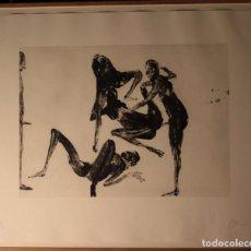 Arte: MIQUEL BARCELO.GRABADO AGUAFUERTE 92X75. SERIE LANZAROTE. FIRMADO Y NUMERADADO A MANO POR EL ARTISTA. Lote 163592546