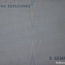 Arte: EUSEBIO SEMPERE. LAS CUATROS ESTACIONES.CARPETA COMPLETA CON 4 SERIGRAFIAS MAS TEXTOS.. Lote 163595586