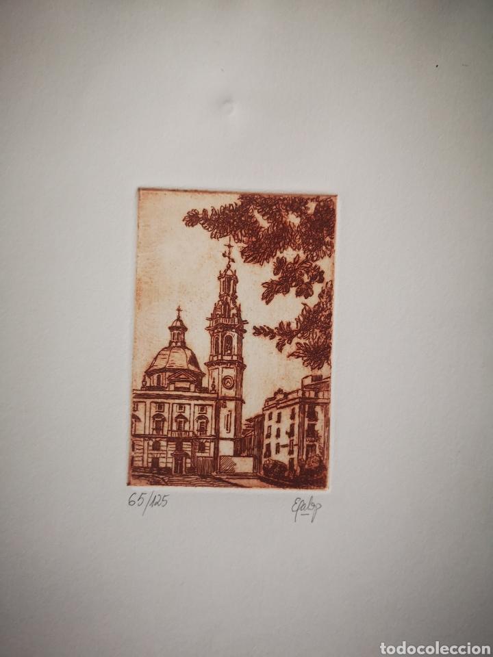 GRABADO VISTA DE ALCOY, NUMERADO Y FIRMADO.. 65/125 (Arte - Grabados - Contemporáneos siglo XX)