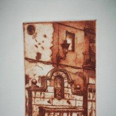 Arte: GRABADO FUENTE DE ALCOY, FIRMADO Y NUMERADO, 70/125. Lote 163802750