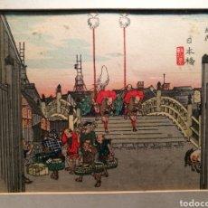 Arte: NIHONBASHI POR HIROSHIGE ANDO (1797-1858). Lote 163883876