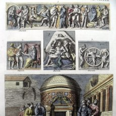 Arte: DIFERENTES COSTUMBRES ROMANAS, 1757. MONTFAUCON. Lote 163939736