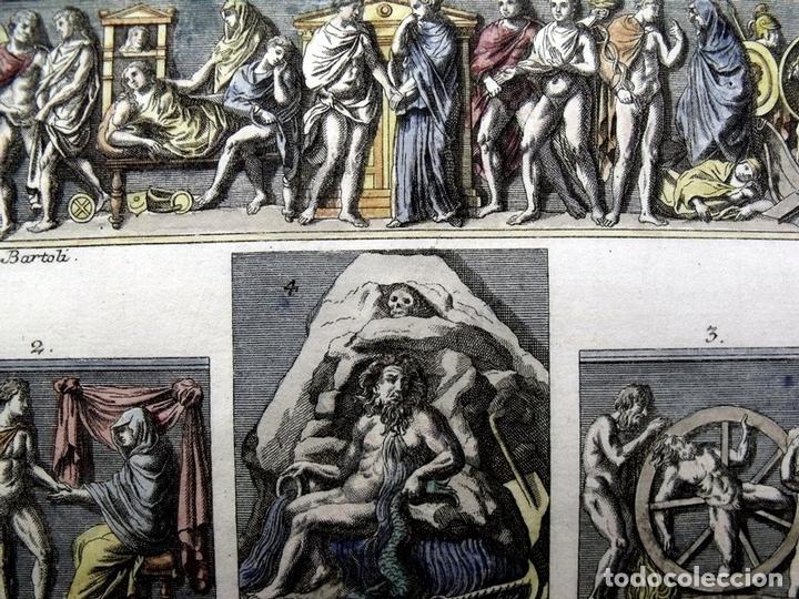 Arte: Diferentes costumbres romanas, 1757. Montfaucon - Foto 4 - 163939736