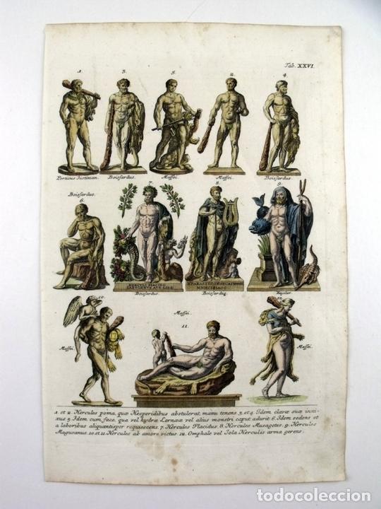 ESTATUAS DE DIOSES CLÁSICOS GRIEGOS Y ROMANOS, 1757. MONTFAUCON (Arte - Grabados - Antiguos hasta el siglo XVIII)