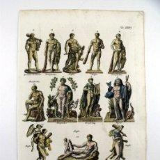 Arte: ESTATUAS DE DIOSES CLÁSICOS GRIEGOS Y ROMANOS, 1757. MONTFAUCON. Lote 163941308