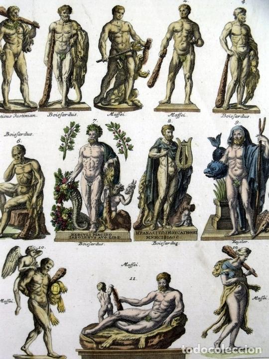 Arte: Estatuas de dioses clásicos griegos y romanos, 1757. Montfaucon - Foto 3 - 163941308