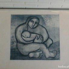 Arte: GRABADO MATERNIDAD, SOLEDAD BARBADILLO GOMEZ. SERIE DE 150 ORIGINALES. FIRMADO Y NUMERADO.. Lote 164380322