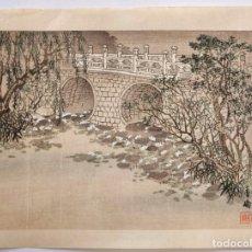 Arte: EXCELENTE GRABADO JAPONÉS ORIGINAL DE FINALES DEL SIGLO XIX, CIRCA 1890, UKIYOE, XILOGRAFÍA.. Lote 164456446