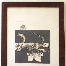 Arte: GRABADO DE ANTONIO LÓPEZ, GAMBA LANGOSTINO 9 / 30. Lote 164570634