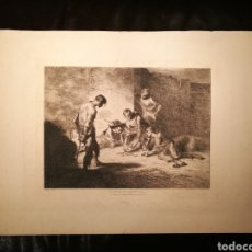Arte: LA PARTIDA DE CARTAS POR FRANCISCO LAMEYER (1825-77). Lote 164606164