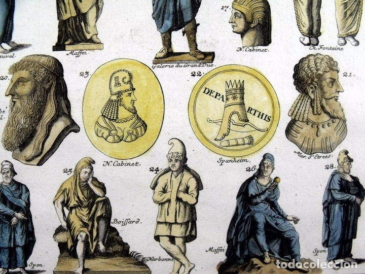 Arte: Senadores del Imperio romano, 1757.Montfaucon - Foto 2 - 164707970